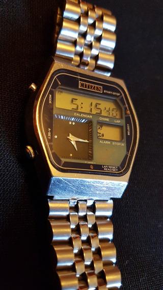 Reloj De Pulsera Vintage Citizen Digi Ana..