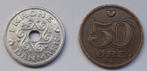 * Lote De Monedas De Dinamarca. Buen Precio!