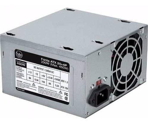 Fonte Atx Para Cpu 200w E 450w De Pico Lite