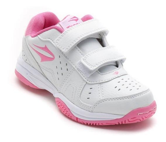 Zapatillas Topper Modelo Tenis Niñas Rookie Velcro - (23071)