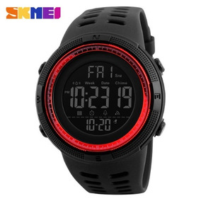 Relógio Skmei Importado Esportivo Preto/vermelho Digital