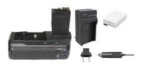 Grip Bg-e8 + 1 Bateria Lp-e8 + Carregador P Canon T3i, T5i