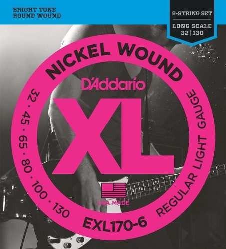 Cuerdas Bajo 6  Daddario Exl170-6 -  Queen In