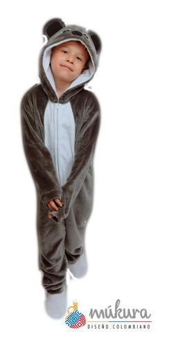 Pijama Térmica Enteriza Koala Niños Talla 2 A 6 Kigurumi
