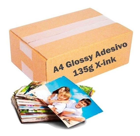 Papel Fotográfico Adesivo 135g A4 À Prova D´água 500 Folhas