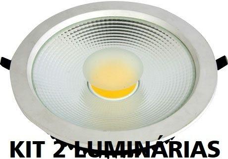 Luminária Circular Led Cob 30w - Branco Quente - Flc