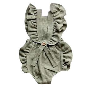 Meninas Criança Bebê Redondo Pescoço Sem Mangas Sólido R