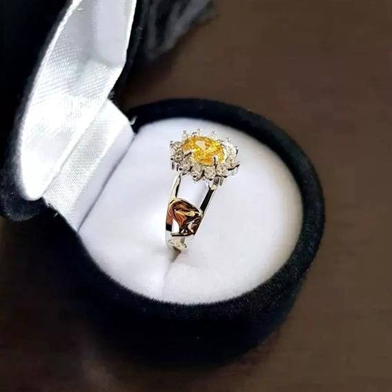 Anel De Formatura Feminino Prata950 Emblemas Ouro 18k