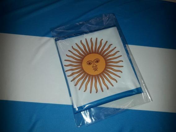 Bandera Argentina Grande De Tela 90 X 150 Cm Con Sol