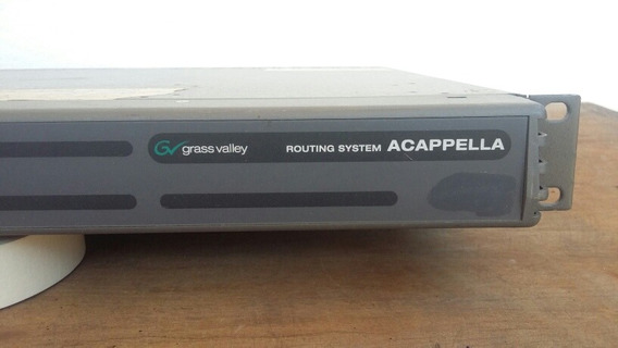 Grass Valley Videorouter Acappella 16x8 Hd.