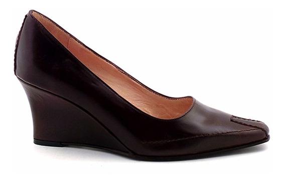 Zapato Mujer Vestir Cuero Briganti Taco Chino - Mccz03275