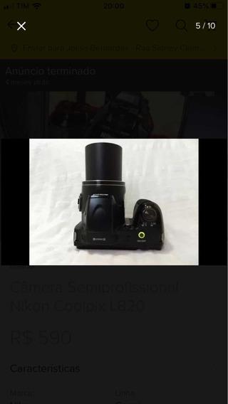 Camera Semiprofissional Coolpix L820 Nikon