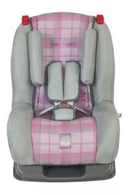 Cadeira / Poltrona P/ Bebe Rosa Xadrez Tutti Baby