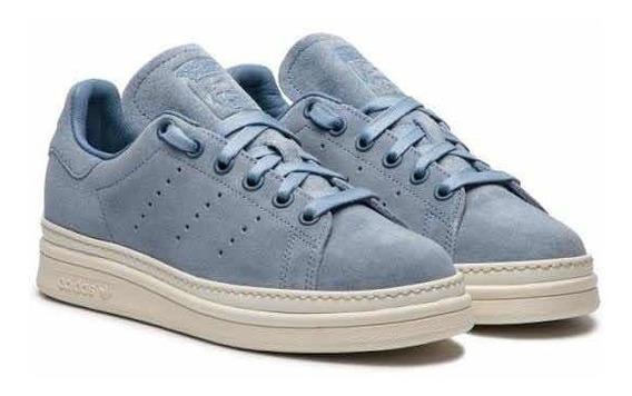 Tenis adidas Originals Stan Smith New Bold B37299 Blue White