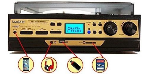 Boytone Bt-27g-c Radio Am/fm,usb/sd/aux+cassette/mp3 Y Wma