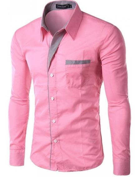 Camisa Social Masculina Slim Fit - Gravatinha