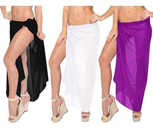 La Leela Mujer Ropa De Playa Abrigo De Bikini Cubrir Traje D