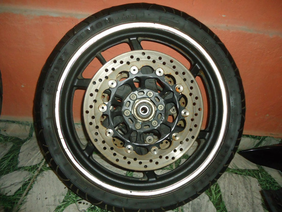 Roda Dianteira Kasinski 250 C/ Disco E Pneu