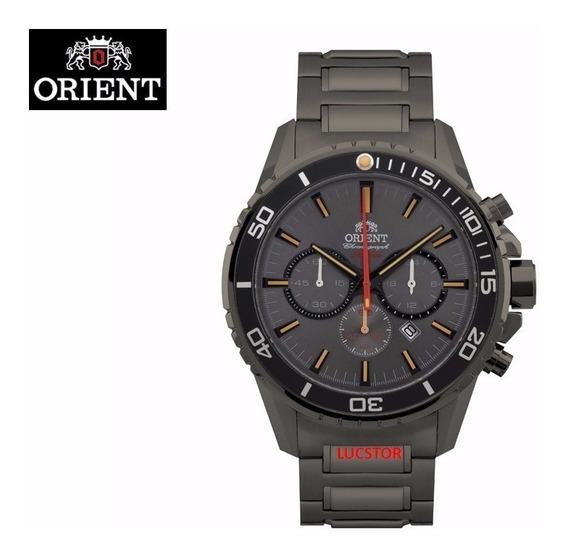 Relogio Orient Myssc003 G1gx Cronografo Masculino Cinza Aço
