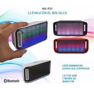 Parlante Noga Ng-p31 Bluetooth Microsd Usb Radio Fm En Florencio Varela