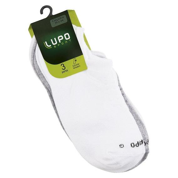 Meia Lupo Sport Soquete Adulto Kit C/ 3 Unidades Original