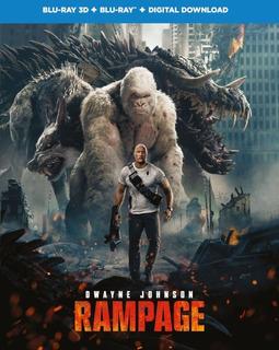 Rampage Devastacion Blu-ray 3d + Blu-ray Nuevo Original Imp