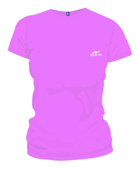Remera Neron Deportivo Dama Color Liso
