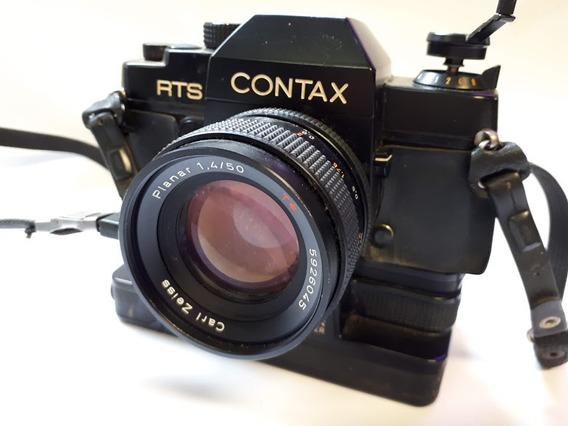 Máquina Fotográfica Contax Lentes Carl Zeiss C/ Motor Drive