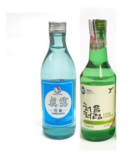 2 Bebida Alcoólica Coreana Soju Original + Soju Is Back
