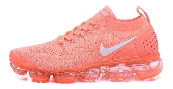 Tênis Nike Vapormax Flyknit 2 Feminino 36 Laranja Neon Pink
