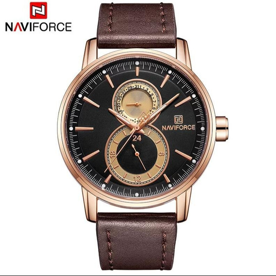 Relógio Masculino Naviforce Original Luxo Black Friday
