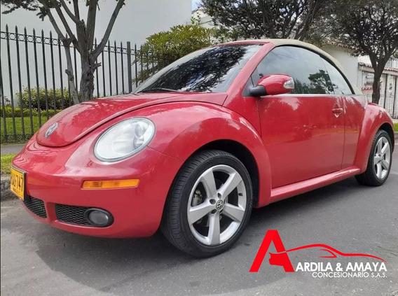Volkswagen New Beetle 2010 Convertible A.t Rojo 2.500 F.e.