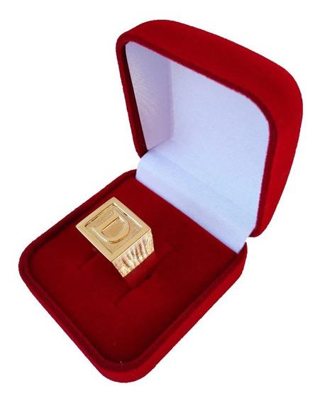 Anel De Letra Masculino 12 Gramas Em Ouro 18kl