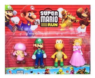 Mario Bross X 4 Muñecos En Blister V Crespo