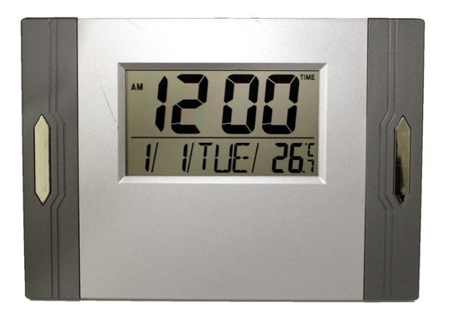 Relógio De Parede E Mesa Digital Data Temperatura Alarme