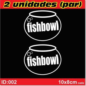 2 Adesivos Fishbowl- Adesivo Aquário- Sem Insulfilm- Id02