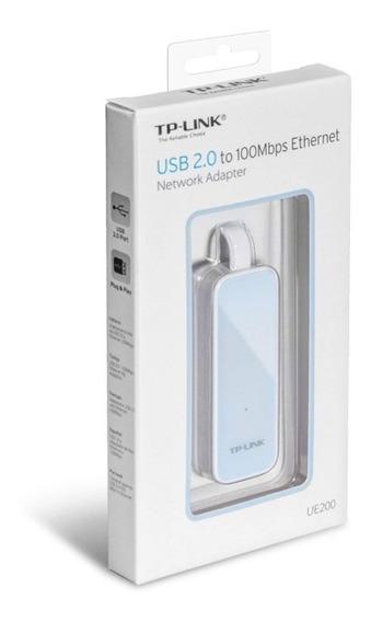 Adaptador Usb 2.0 A Red Rj45 Ethernet Tp Link Ue200