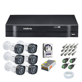 Kit 6 Cameras Infra 20mts Com Hd Incluso (completo)