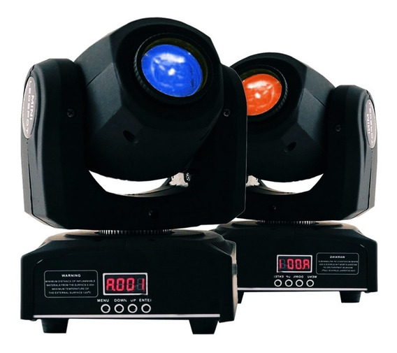 2 Moving Head Spot Led Osram 60w 8 Cores + 8 Desenhos Dmx Dj