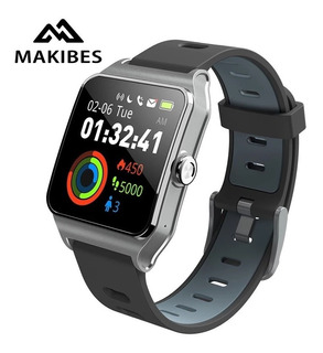 Relógio Inteligente Makibes Br3 Gps-strava Cinza/preto