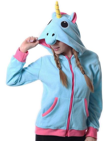 Sudadera Hoodie De Unicornio Cosplay Color Azul H8092