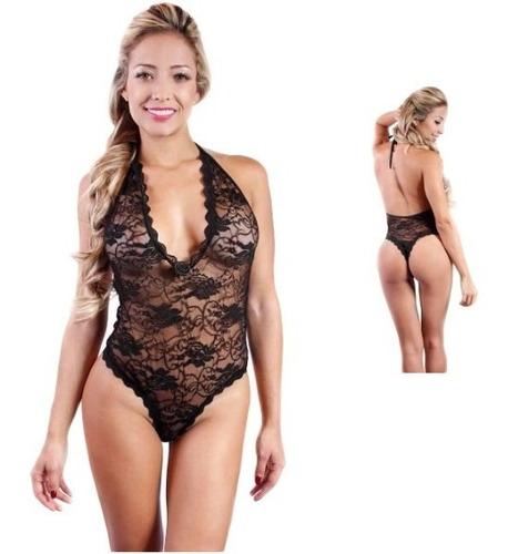 Body Sensual Encajes Blonda Lencería Mujer Oferta Envío Ya