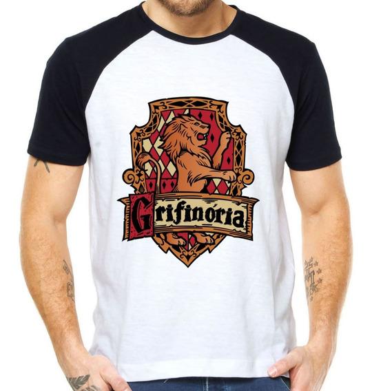 Camisetas Grifinoria Hogwarts Harry Potter Filmes Hp Bruxo