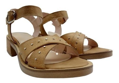 Sandalias Baja Zapatos Cuero Mujer Moda Verano 44da
