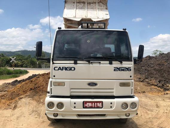Cargo 2626 6x4, Caçamba, Motor Com 160 Mil Km