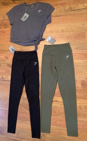Padrísimo Set 3 Piezas 2 Leggings 1 Blusa Gymshark Originale