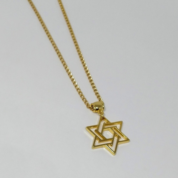 Corrente Colar Estrela De Davi | Dourada