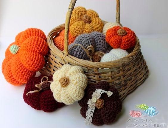 Calabaza Crochet Decoración Halloween Guirnaldas .