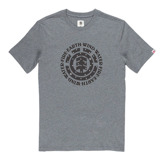 Remera Element Seal Full Tee Hombre Gris Rojo
