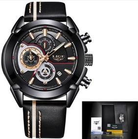 Relógio Masculino Casual Lige 9863 Diametro 45mm Fretegrátis